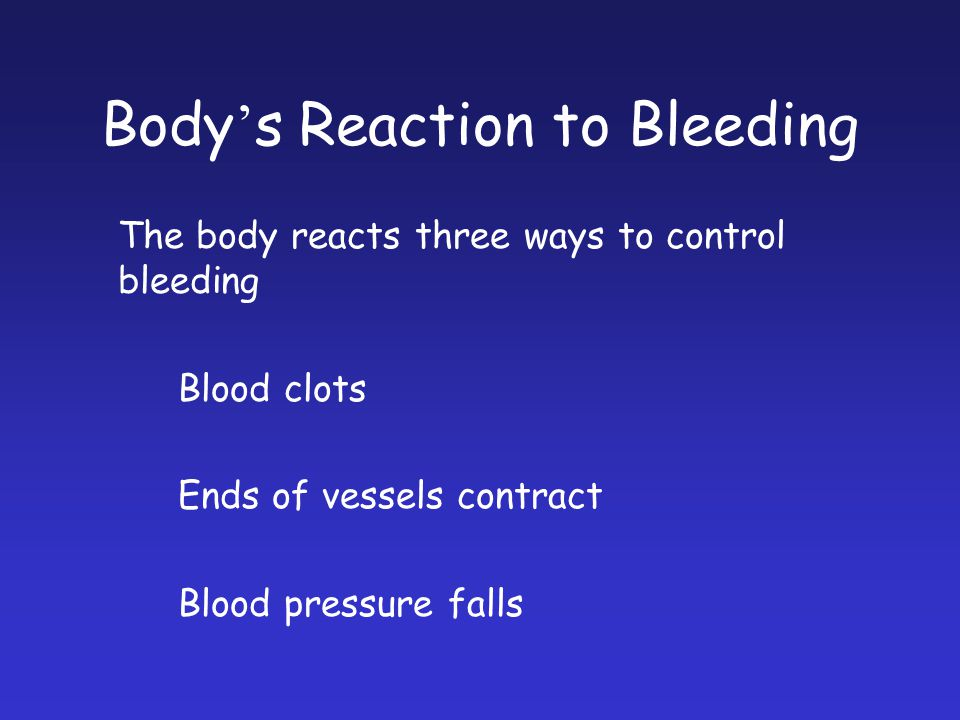 Body's Reaction to Bleeding