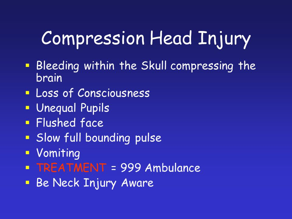 Compression Head Injury
