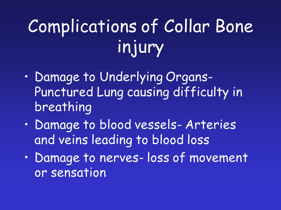 Complications of Collar Bone injury
