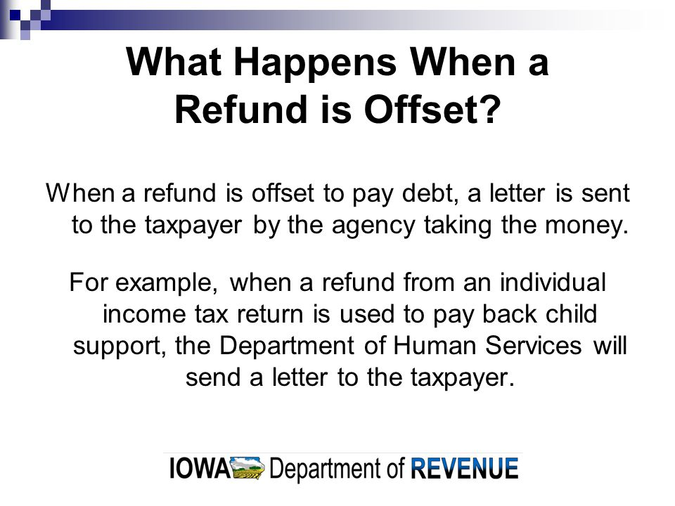 What Happens When a Refund is Offset