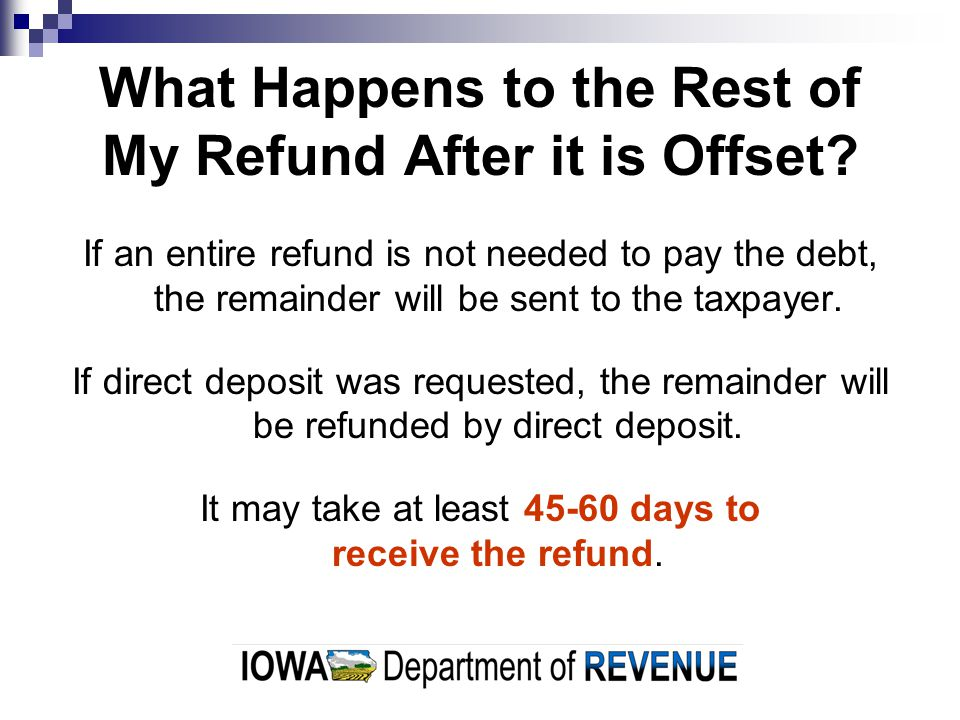What Happens to the Rest of My Refund After it is Offset