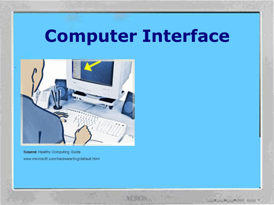 Computer Interface Source: Healthy Computing Guide