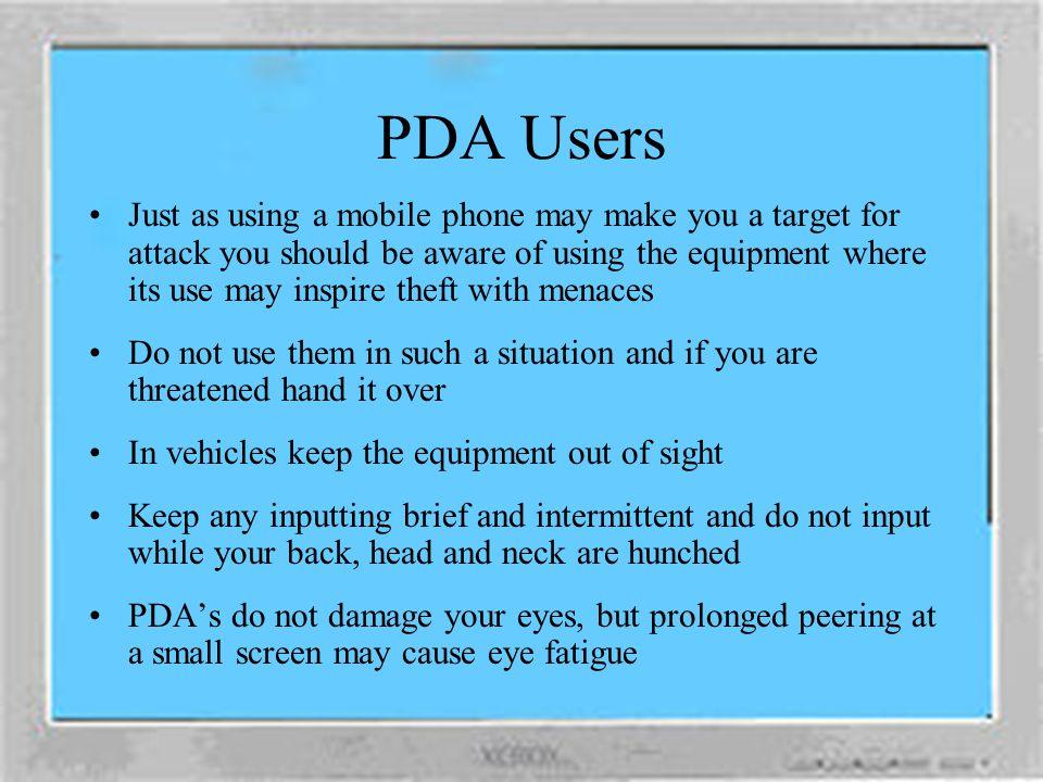 PDA Users