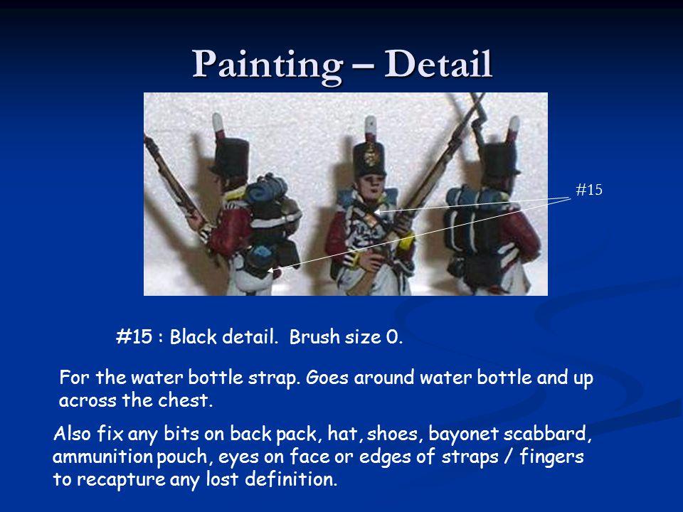 Painting – Detail #15 : Black detail. Brush size 0.