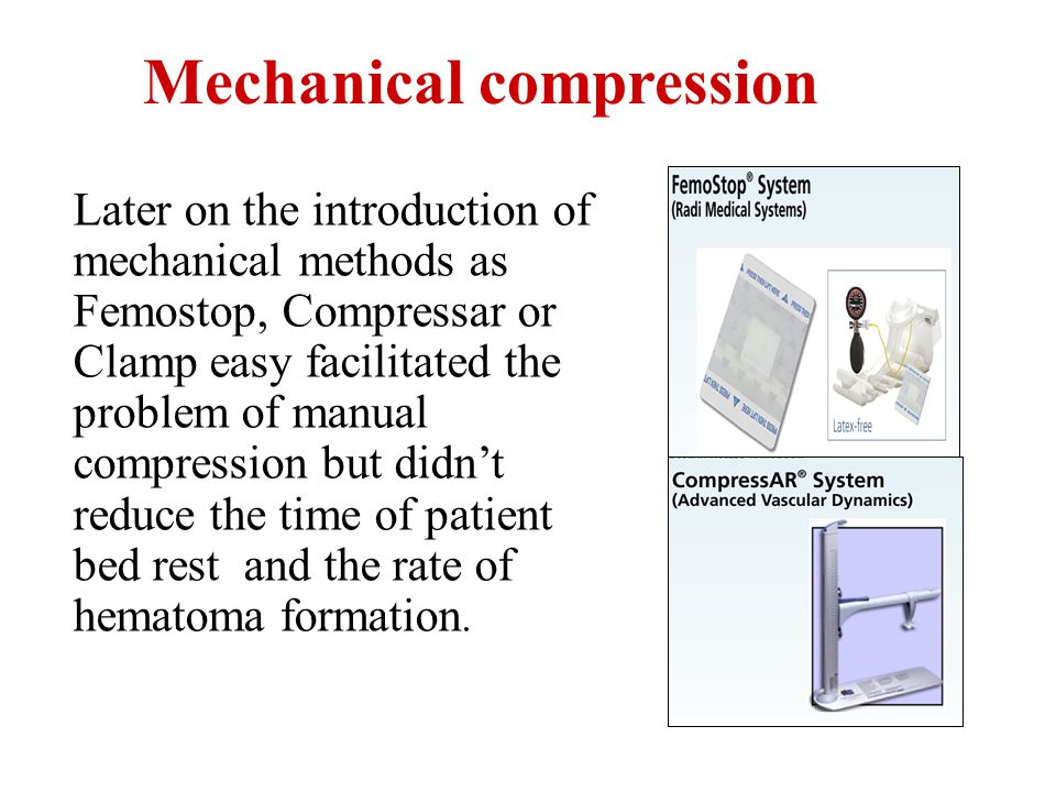Mechanical compression