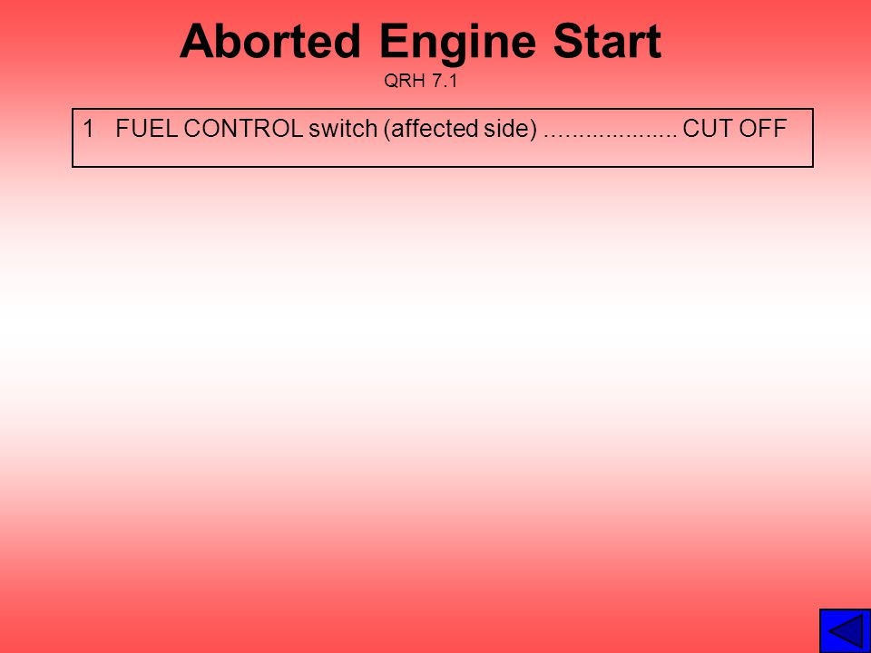 Aborted Engine Start QRH 7.1
