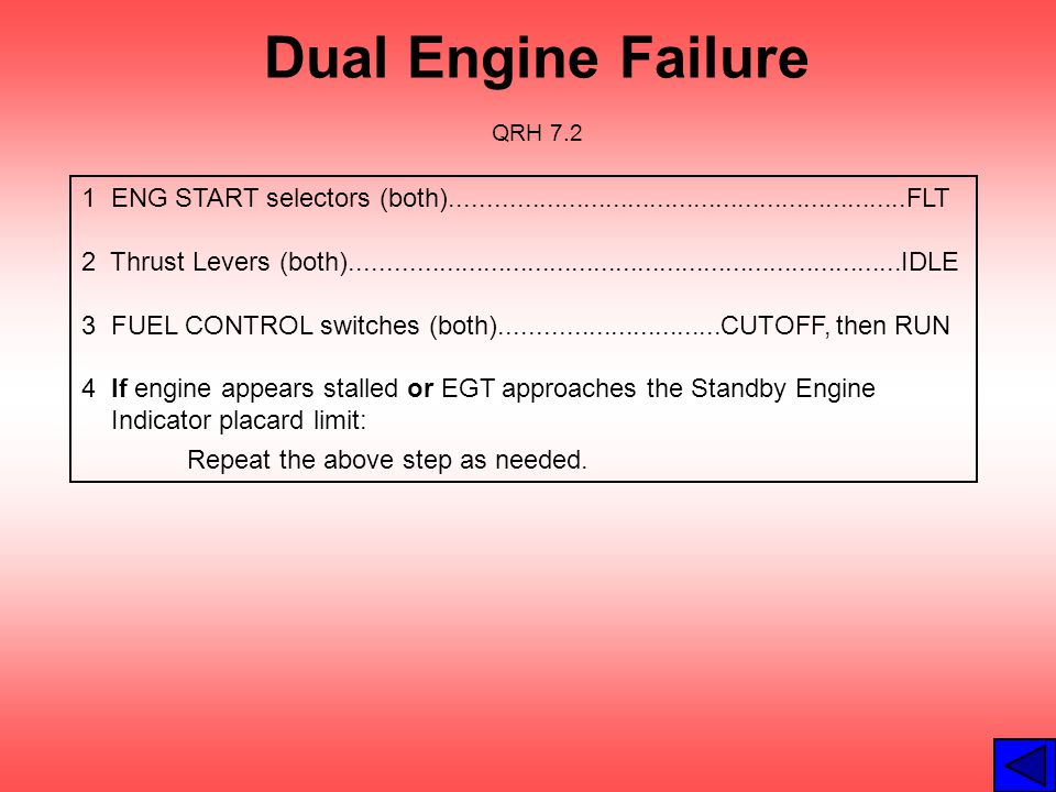 Dual Engine Failure QRH 7.2