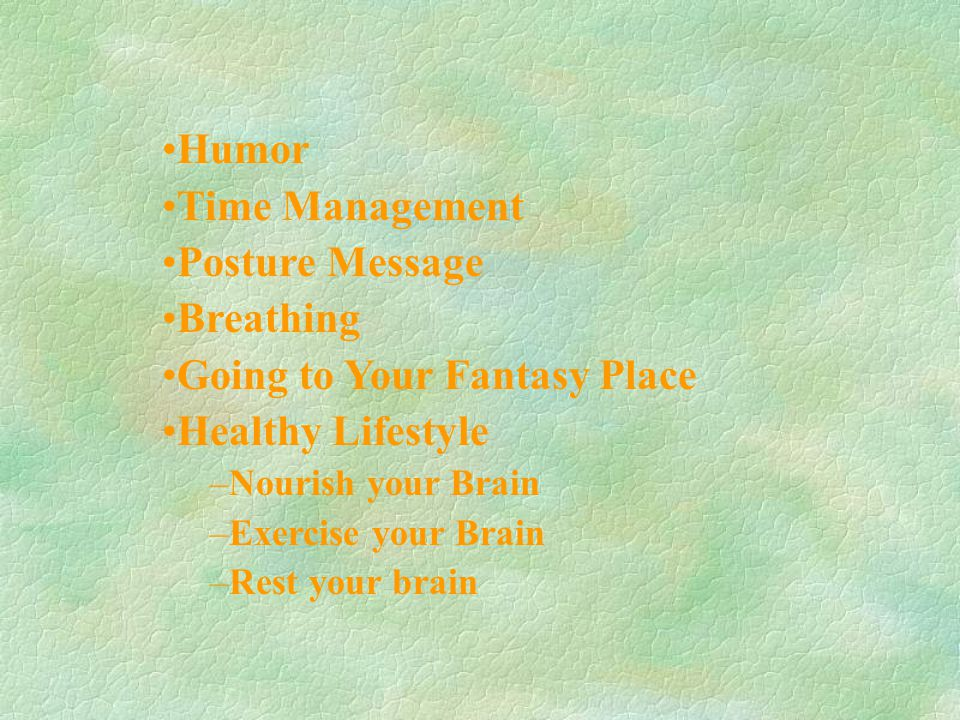 Going to Your Fantasy Place Healthy Lifestyle