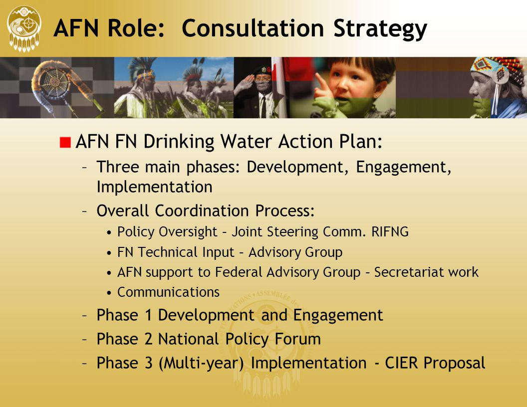 AFN Role: Consultation Strategy