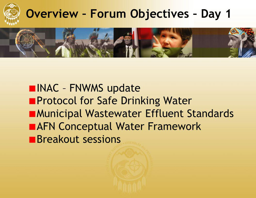 Overview – Forum Objectives – Day 1