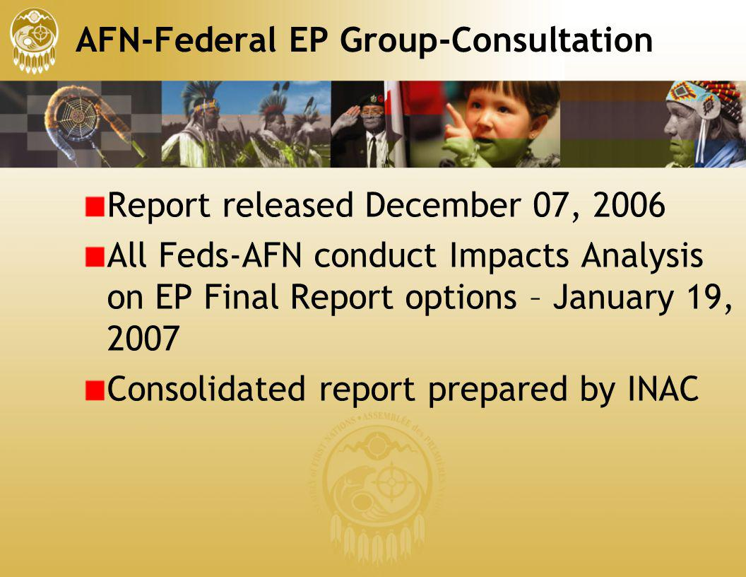 AFN-Federal EP Group-Consultation