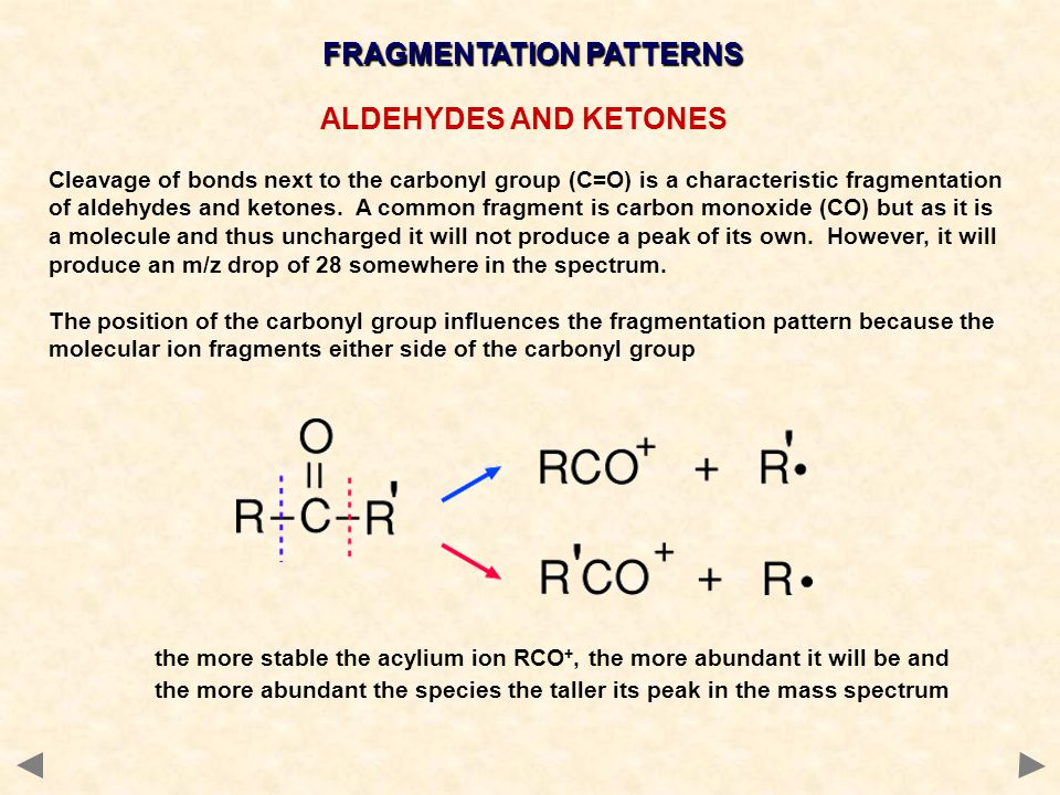 characteristic mass spectral fragmentation Compounds introduced into the spectrometer produce a characteristic mass  spectrum which can be  information through different fragmentation processes.