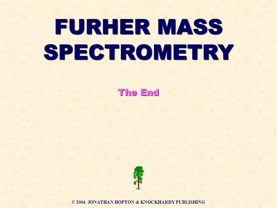 FURHER MASS SPECTROMETRY