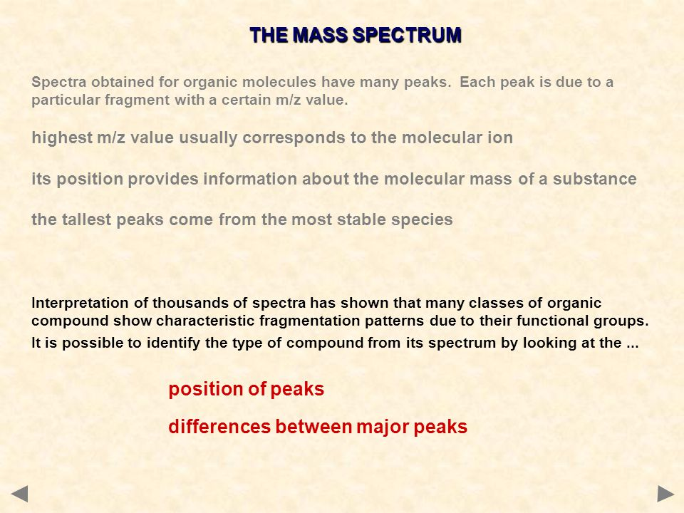 differences between major peaks