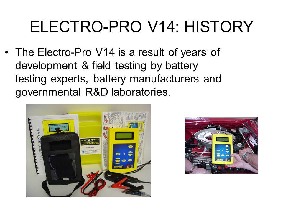 ELECTRO-PRO V14: HISTORY