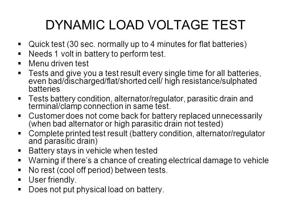Dynamic Load Testing : Electro pro v the only complete automotive electrical
