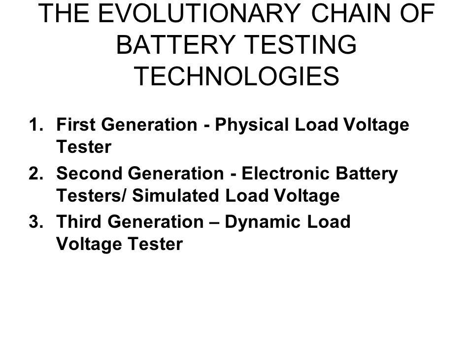 THE EVOLUTIONARY CHAIN OF BATTERY TESTING TECHNOLOGIES