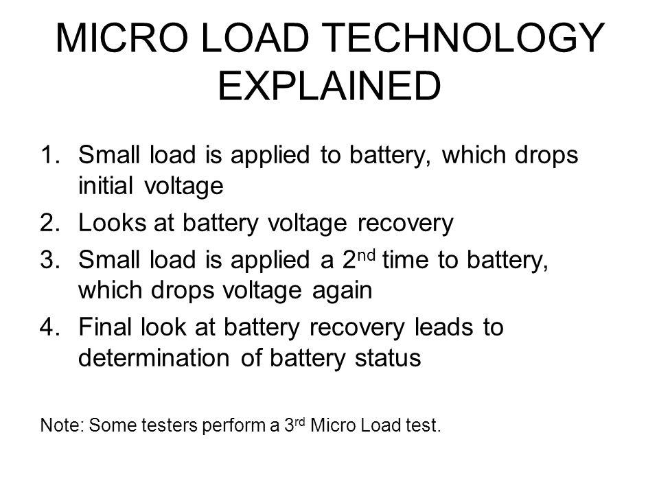MICRO LOAD TECHNOLOGY EXPLAINED