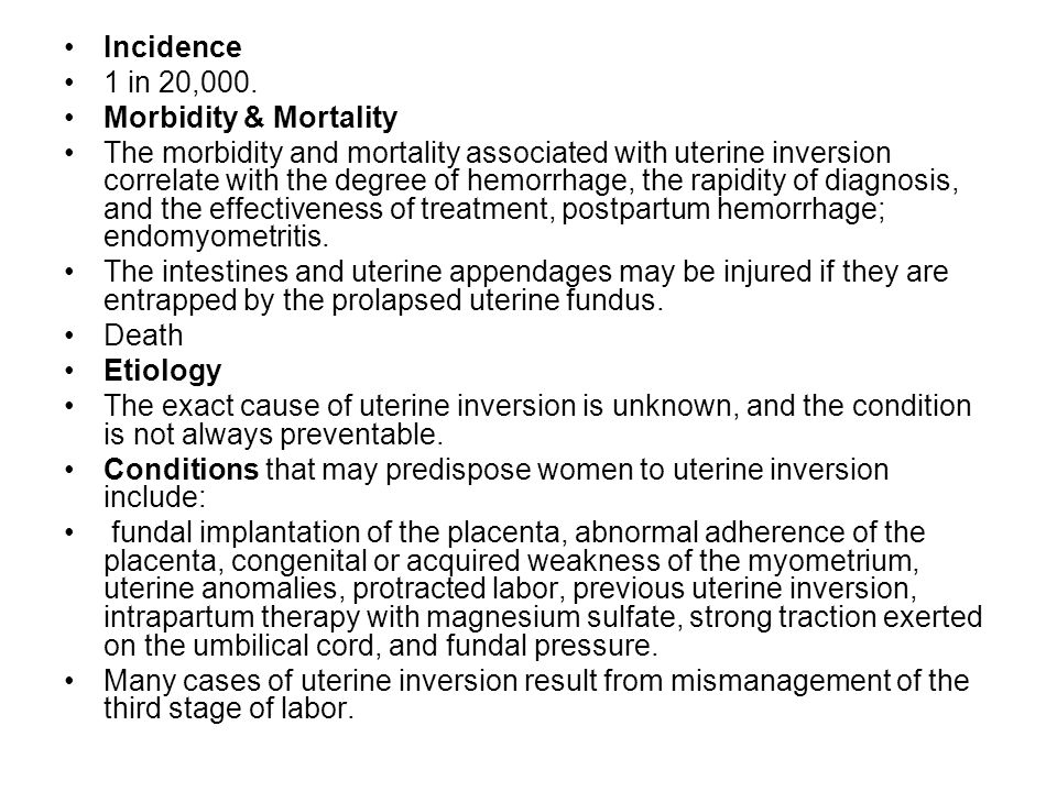 Incidence 1 in 20,000. Morbidity & Mortality.