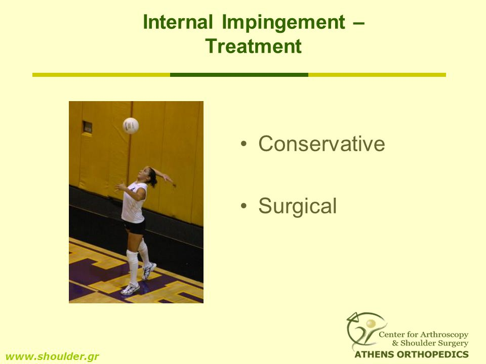 Internal Impingement – Treatment