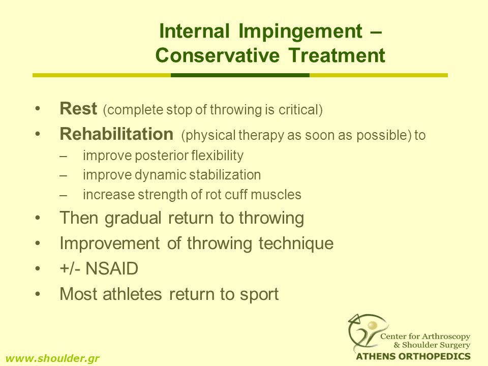 Internal Impingement – Conservative Treatment