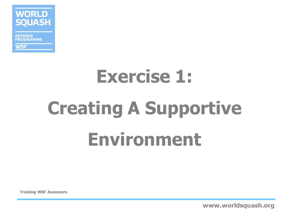 Exercise 1: Creating A Supportive Environment