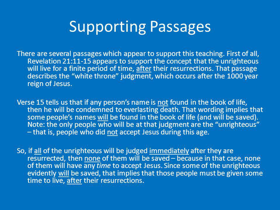 Supporting Passages