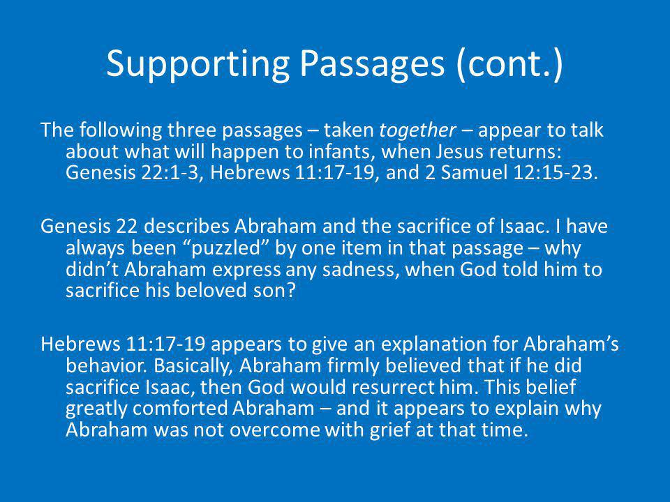 Supporting Passages (cont.)