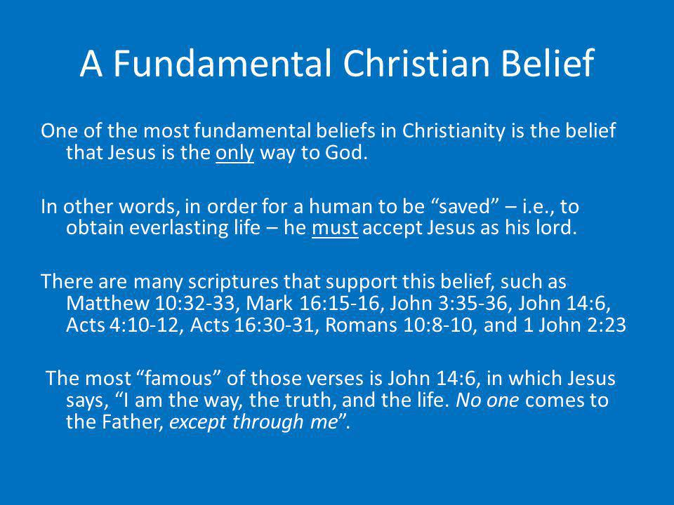 A Fundamental Christian Belief