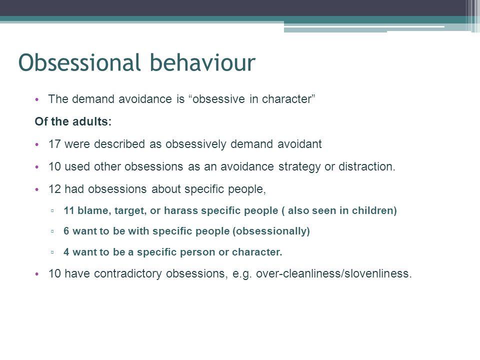 Obsessional behaviour