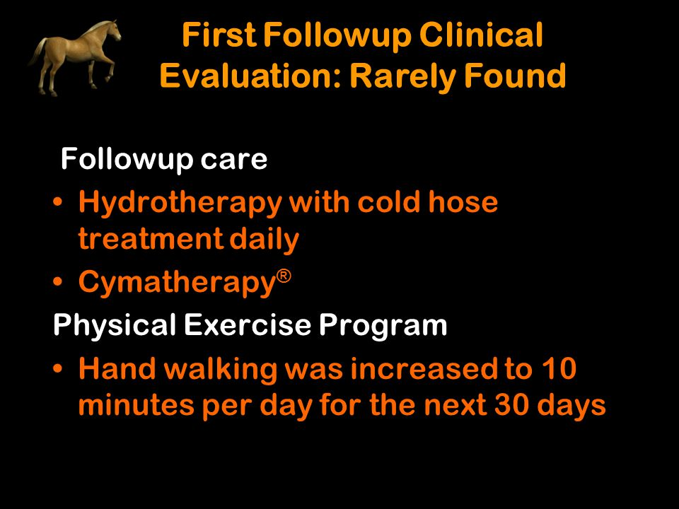 First Followup Clinical Evaluation: Rarely Found