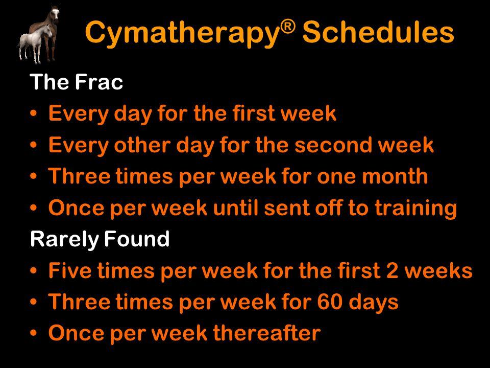 Cymatherapy® Schedules