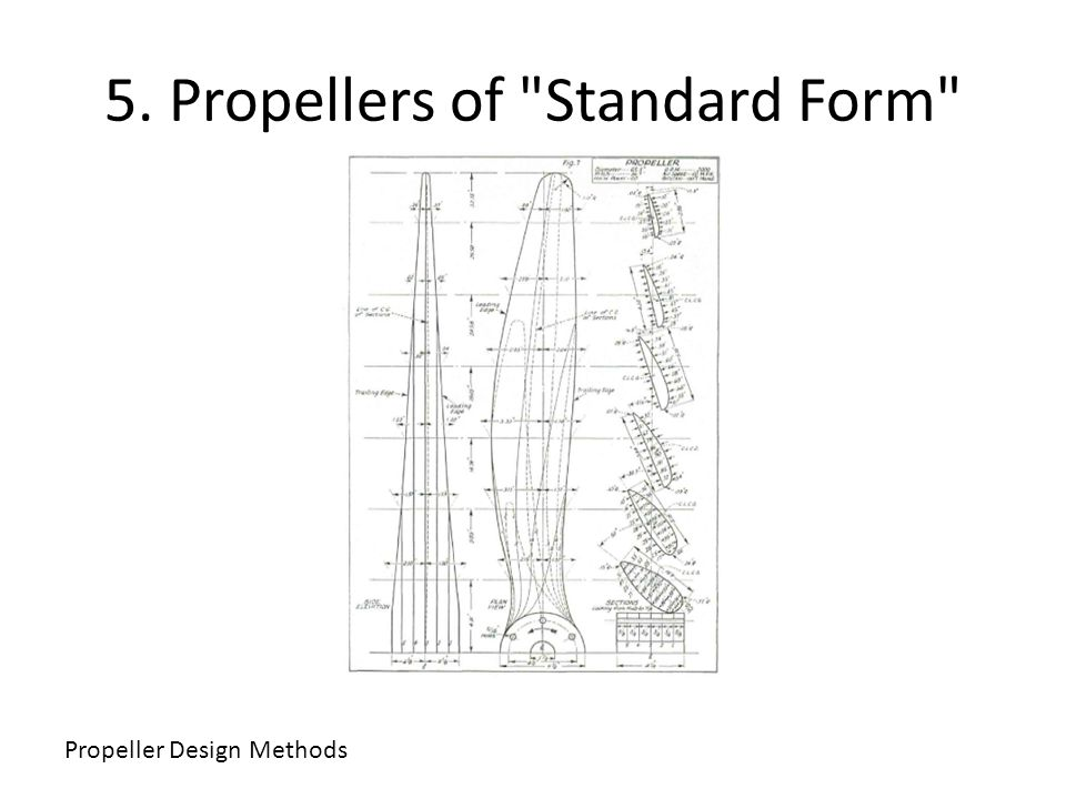 5. Propellers of Standard Form