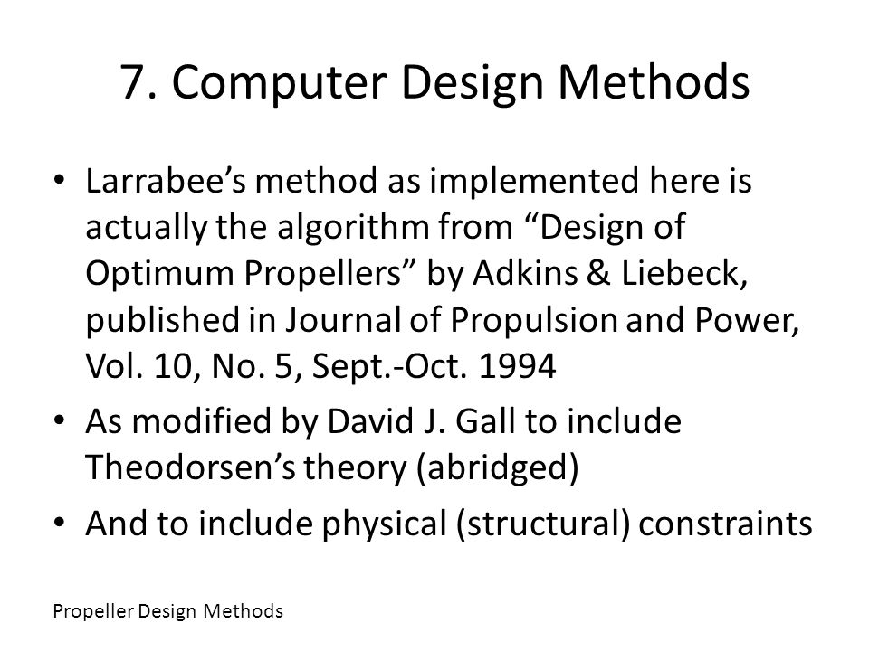 7. Computer Design Methods