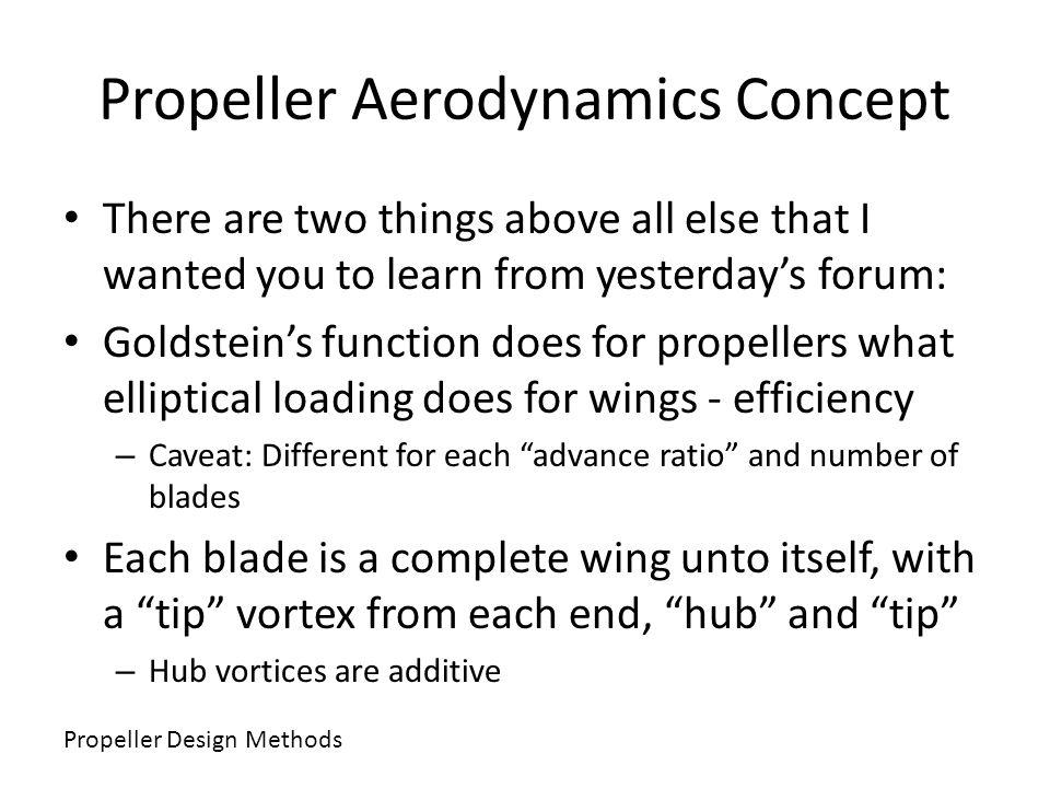 Propeller Aerodynamics Concept