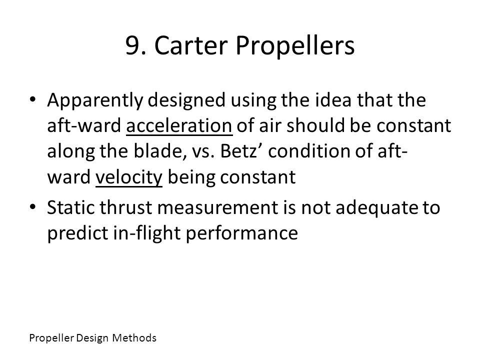 9. Carter Propellers