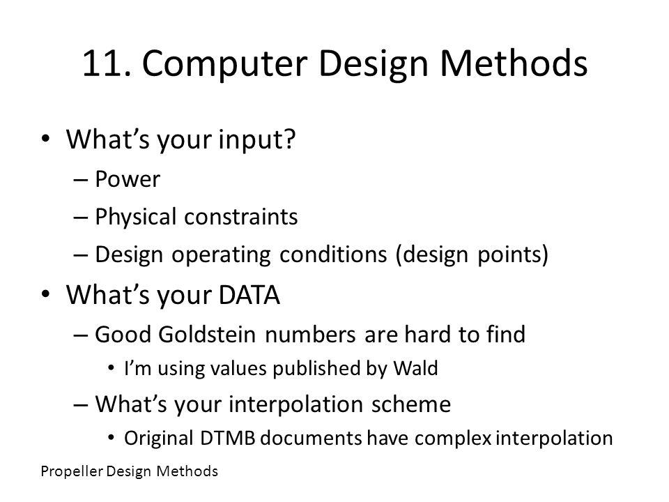 11. Computer Design Methods