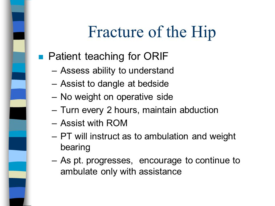 Fracture of the Hip Patient teaching for ORIF