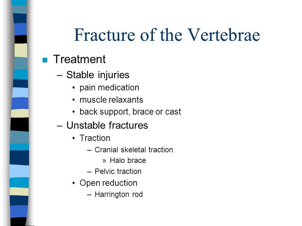 Fracture of the Vertebrae