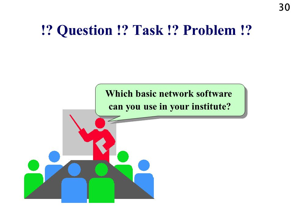 Which basic network software can you use in your institute