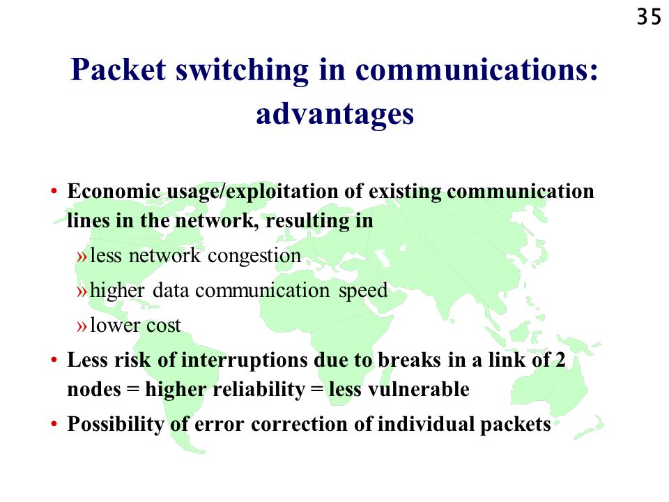 Packet switching in communications: advantages