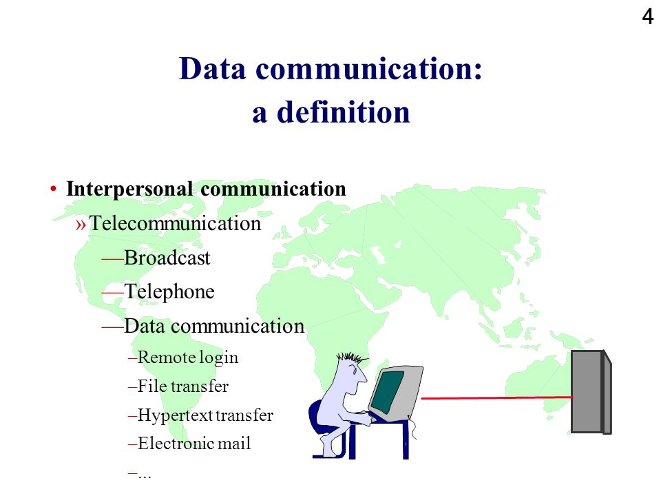 Data communication: a definition