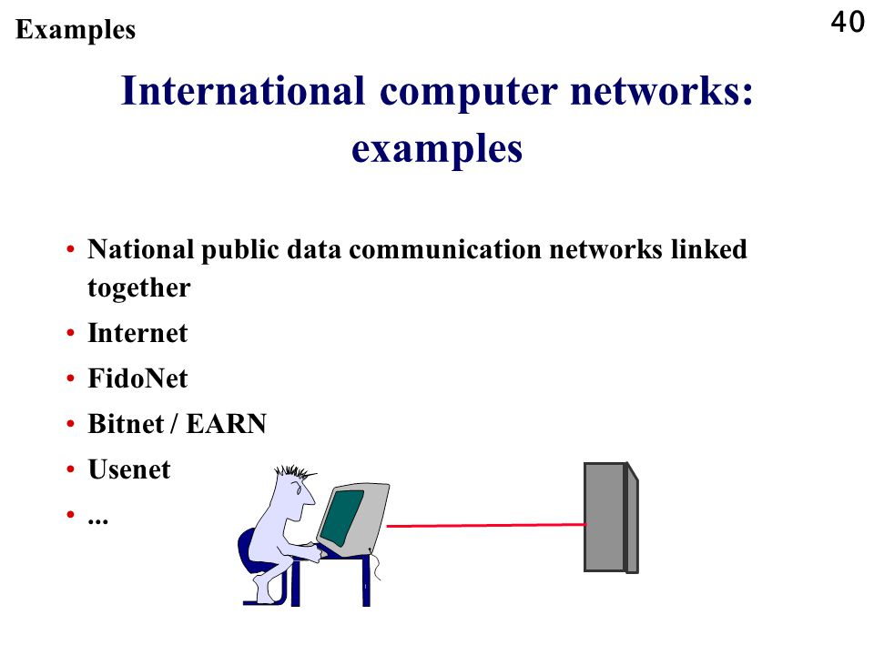 International computer networks: examples