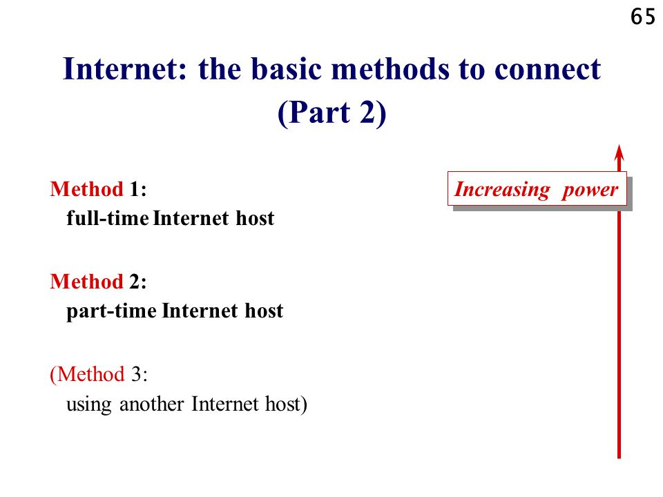 Internet: the basic methods to connect (Part 2)