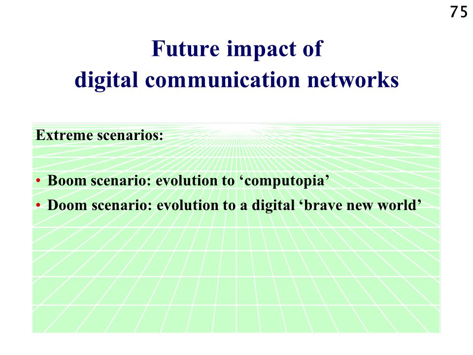Future impact of digital communication networks