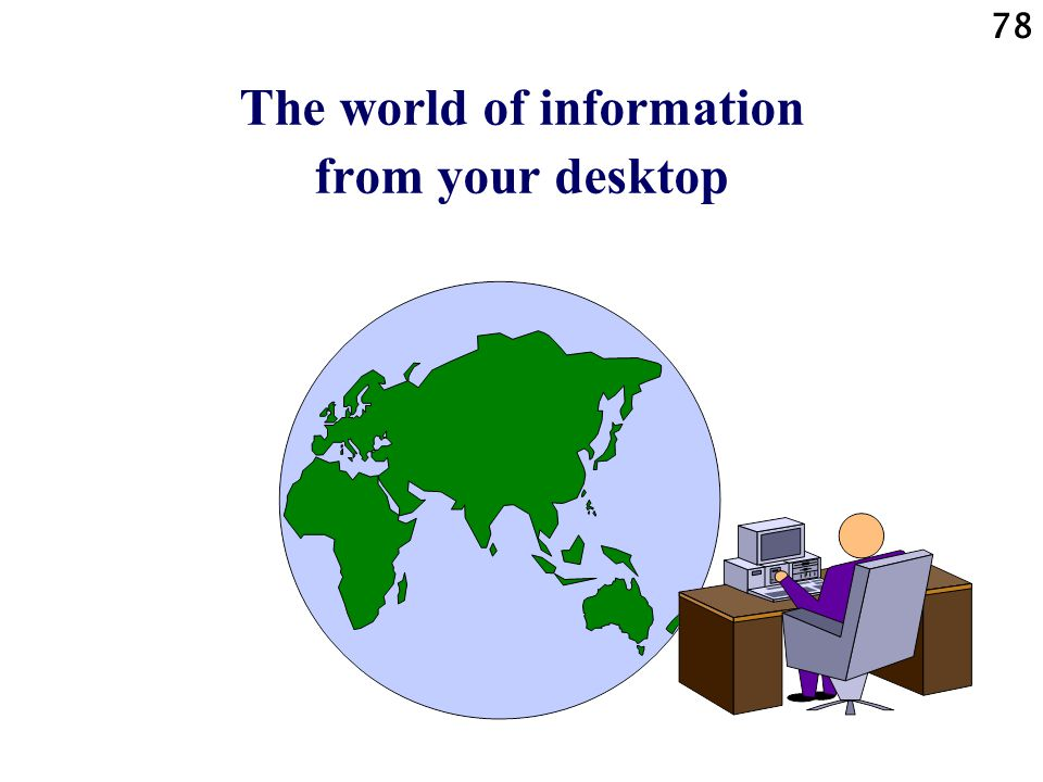 The world of information from your desktop