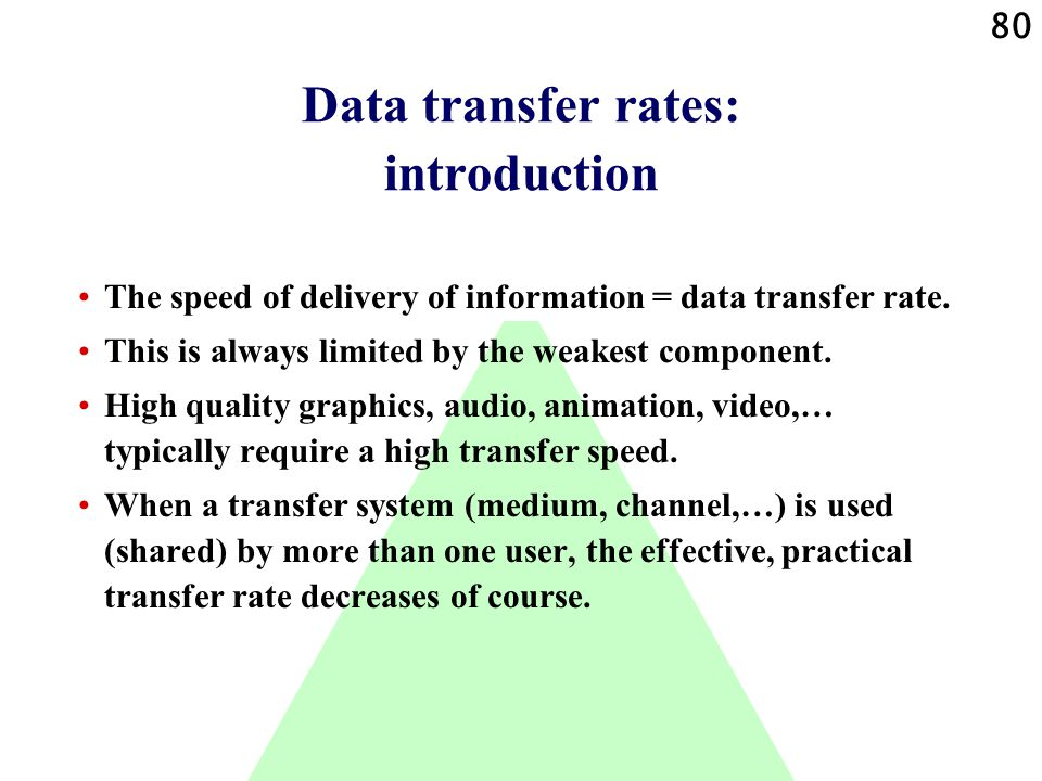 Data transfer rates: introduction