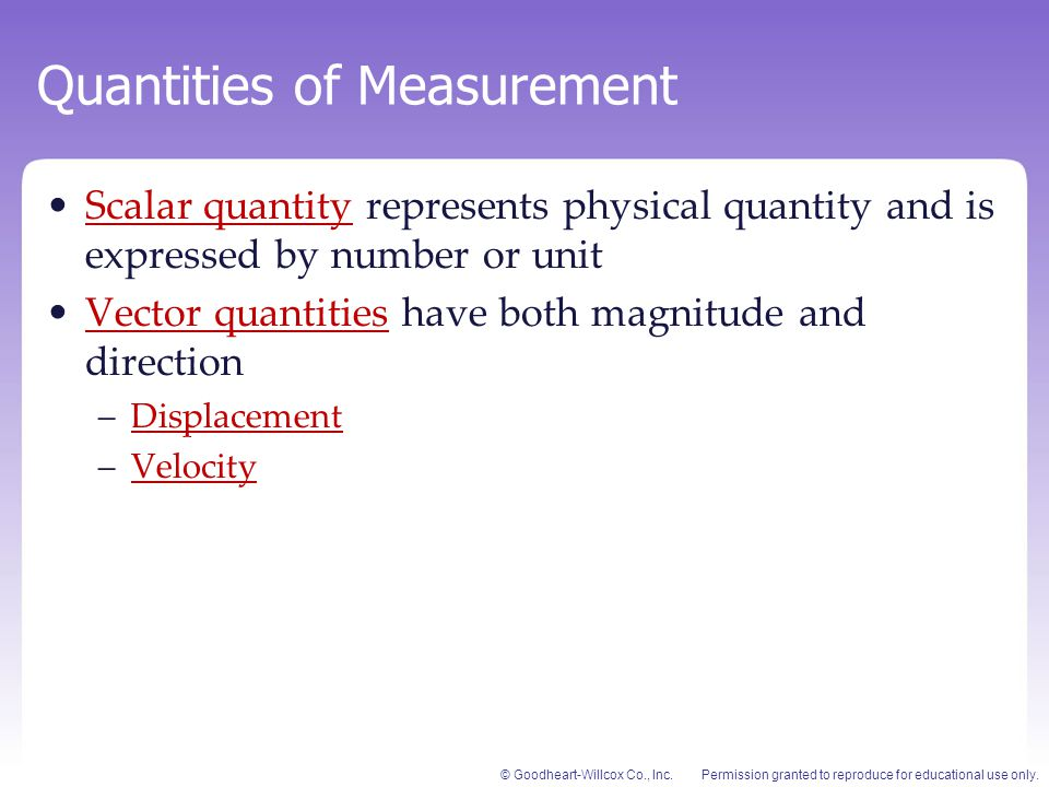 Quantities of Measurement