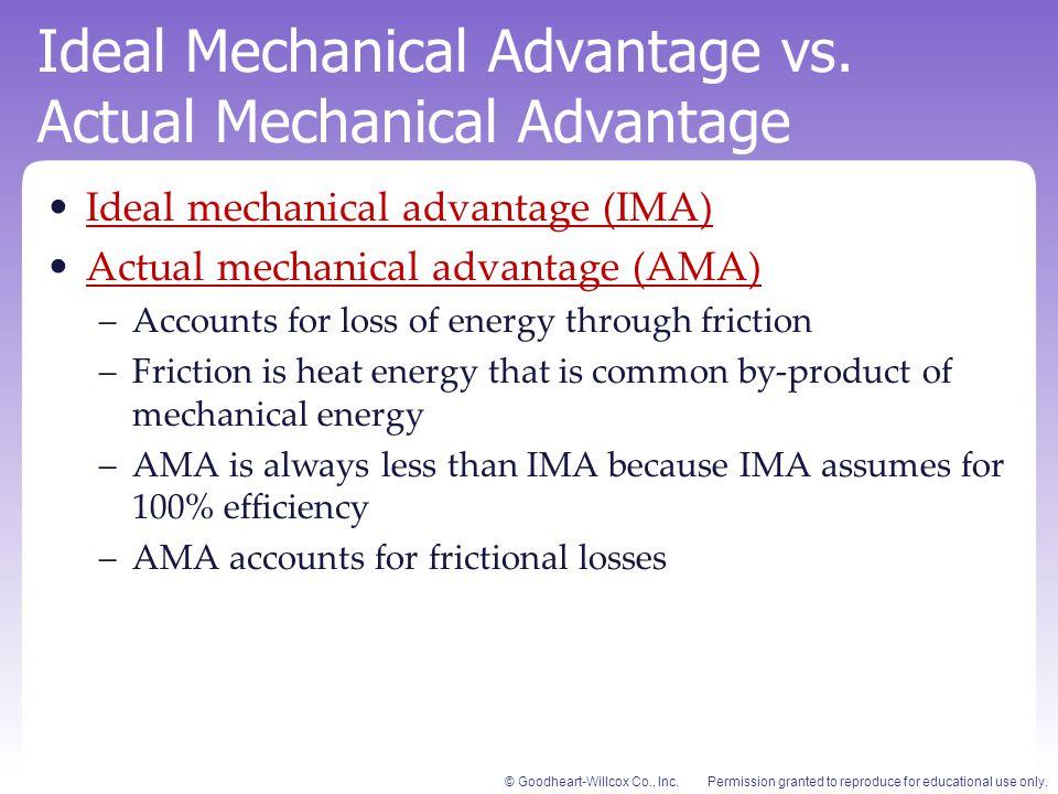 Ideal Mechanical Advantage vs. Actual Mechanical Advantage