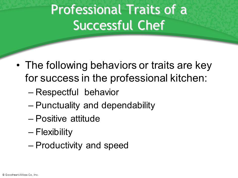 Professional Traits of a Successful Chef